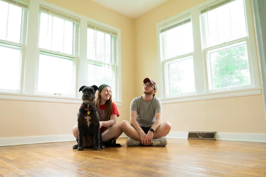 Couple In their empty house